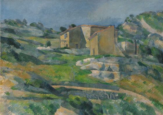 Cezanne, Paul: Houses in Provence - The Riaux Valley near L'Estaque. Fine Art Print/Poster. Sizes: A4/A3/A2/A1 (004085)